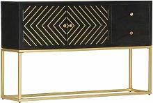 Zqyrlar - Sideboard Black and Gold 120x30x75 cm