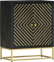 Zqyrlar - Sideboard Black and Gold 60x30x75 cm