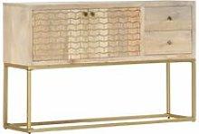 Zqyrlar - Sideboard Gold 120x30x75 cm Solid Mango