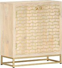 Zqyrlar - Sideboard Gold 60x30x70 cm Solid Mango