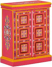 Zqyrlar - Sideboard Solid Mango Wood Pink Hand
