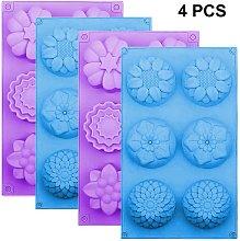 Zqyrlar - Silicone Flower Cake Molds Set of 4 6