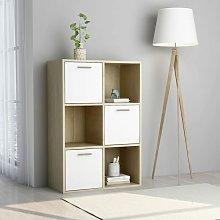 Zqyrlar - Storage Cabinet White and Sonoma Oak