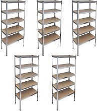 Zqyrlar - Storage Rack Garage Storage Shelf 5pcs -
