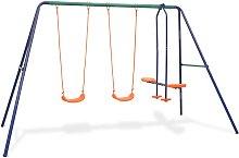 Zqyrlar - Swing Set with 4 Seats Orange - Orange