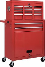 Zqyrlar - Tool Trolley with Tools 7 Layers - Red