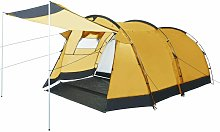 Zqyrlar - Tunnel Camping Tent 4 Person Yellow -
