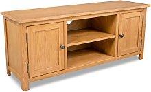 Zqyrlar - TV Cabinet 120x35x48 cm Solid Oak Wood -