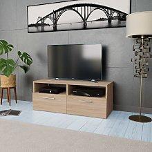 Zqyrlar - TV Cabinet Chipboard 95x35x36 cm Oak -