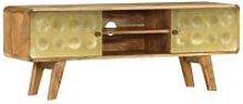 Zqyrlar - TV Cabinet Solid Mango Wood 120x30x45 cm