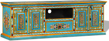 Zqyrlar - TV Cabinet Solid Mango Wood Blue Hand