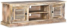 Zqyrlar - TV Cabinet Solid Mango Wood - Brown