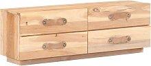 Zqyrlar - TV Cabinet Solid Reclaimed Wood - Brown