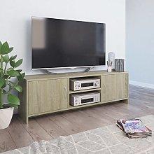Zqyrlar - TV Cabinet Sonoma Oak 120x30x37.5 cm