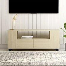 Zqyrlar - TV Cabinet Sonoma Oak 120x35x43 cm