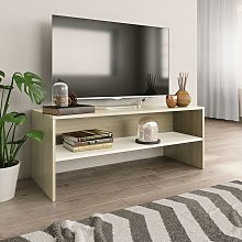 Zqyrlar - TV Cabinet White and Sonoma Oak