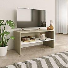 Zqyrlar - TV Cabinet White and Sonoma Oak 80x40x40