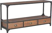 Zqyrlar - TV Cabinet with 3 Drawers 120x30x60 cm