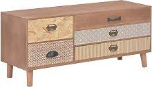 Zqyrlar - TV Cabinet with 5 Drawers 90x30x40 cm