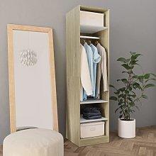 Zqyrlar - Wardrobe White and Sonoma Oak 50x50x200