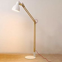 ZRABCD Nordic Floor Lamp with Metal Shade for