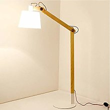 ZRABCD Swing Arm Floor Lamp Wooden, Nordic Style