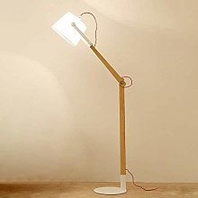 ZRABCD Wooden Floor Lamp with Adjustable Arm,