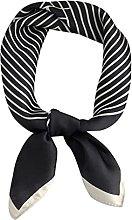 ZRJ Scarf Square Head Scarves Silk Like Neck Scarf