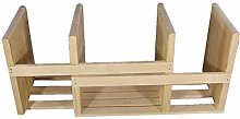 ZRJ Wooden Bookends Desk Organizer Expandable Book