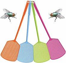 zrshygs 10pcs Plastic Fly Swatters Long Handle