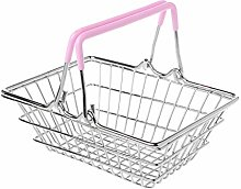 zrshygs Mini Supermarket Shopping Hand Basket Kids
