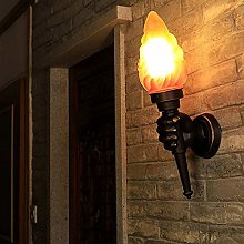 ZSAIMD Retro Torch Hand Lamp Creatives LED Wall