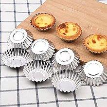 ZSDEW Reusable Egg Tart Portable Stainless Steel