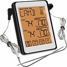 ZSLMX Dual Probe Digital Meat Thermometer, Food