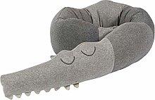ZSooner Crib Bumper Crocodile Pillow Fallproof