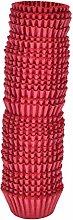 ZTING 500 Pcs Mini Disposable Red Cupcake Baking