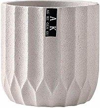 ZTMN Cement Flower Pot Round Large Sandstone