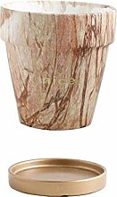 ZTMN Ceramic Flower Pot Marble Pattern Planter