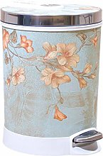 ZTMN Round Step Trash Can Wastebasket With Lid,12l
