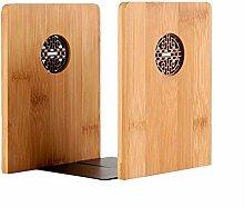 ZTMN Tabletop Book Ends 2pcs Creative Bamboo