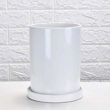 ZTMN Tubular Ceramic Flowerpot 2 Sizes Simple