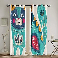 ZUL Blackout Curtains,Bear With Flowers And Bee