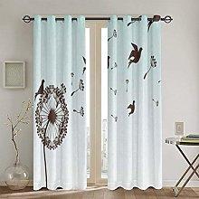 ZUL Blackout Curtains,Bird Design Moroccan Motif,2