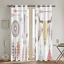 ZUL Blackout Curtains,Butterfly In Stained-Glass
