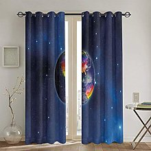 ZUL Blackout Curtains,Calligraphic Design Cool