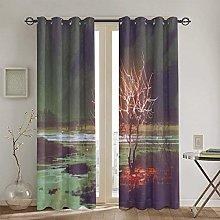 ZUL Blackout Curtains,Circular Mandala Design