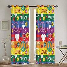 ZUL Blackout Curtains,Colorful Dreamcatchers