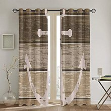 ZUL Blackout Curtains,Earth Toned Nautical Rustic