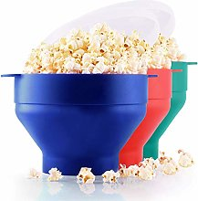 Zulay Kitchen Collapsible Silicone Popcorn Maker -