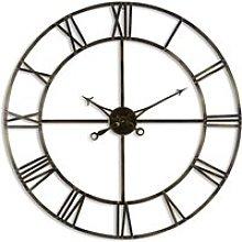 Zulia Large Skeleton Metal Wall Clock In Antique